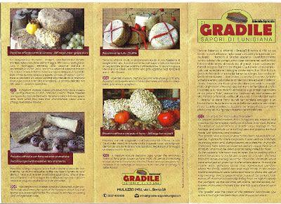 Un B&B in Lunigiana in cui si servono prodotti a km0: i formaggi del gradile