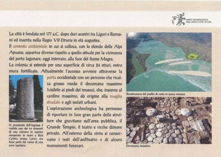 gli scavi di luni vicini all'Eremo Gioioso