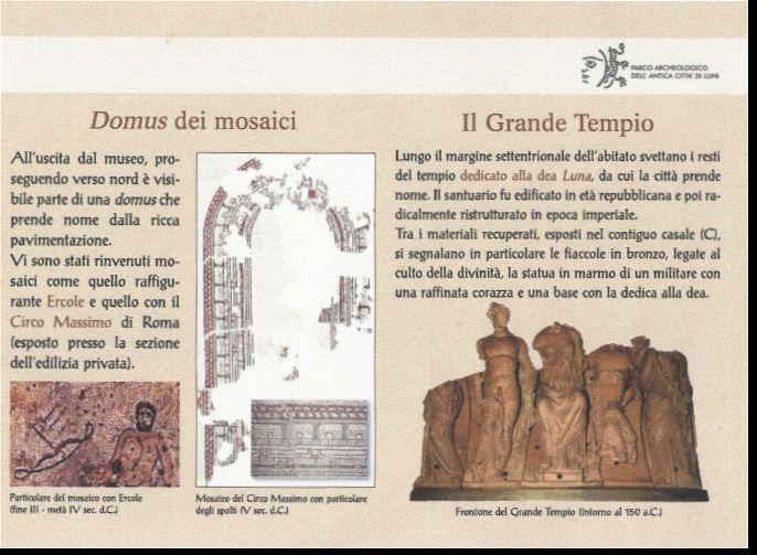 gli scavi di Luni ed i suoi mosaici