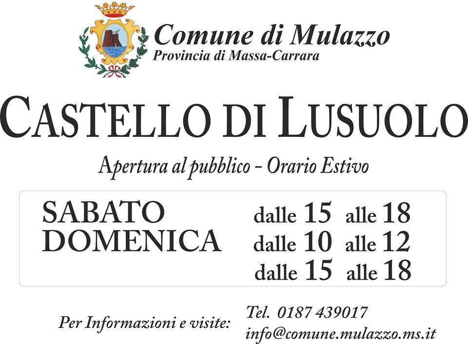 castello di Lusuolo: orari apertura