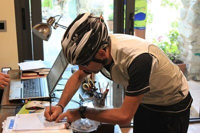 Un ospite del B&B Eremo Gioioso in procinto di affrontare la Via Francigena in bicicletta
