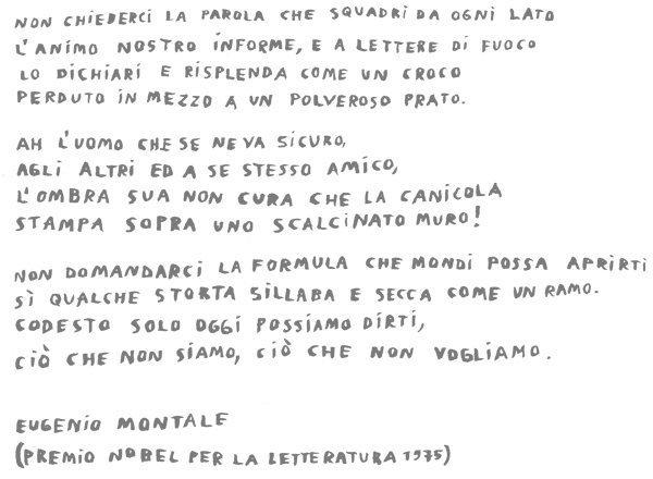 Poesia di Montale
