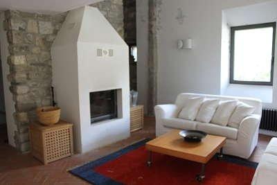 la casa in Lunigiana: il camino