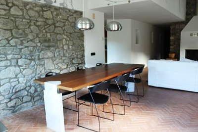 il salone della la casa in Lunigiana