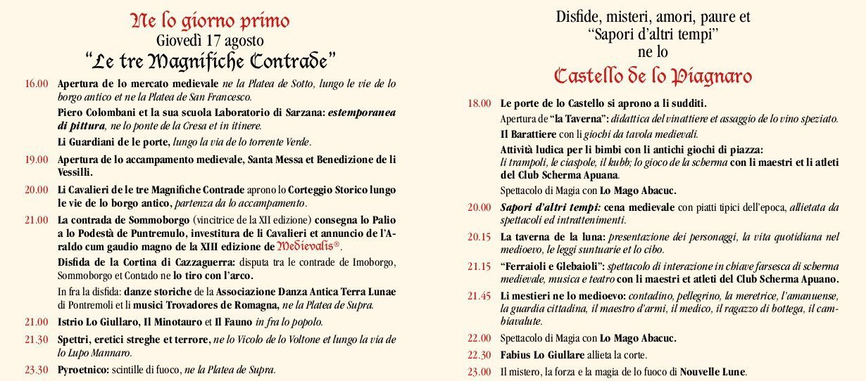 1° giorno Programma-Medievalis-2017