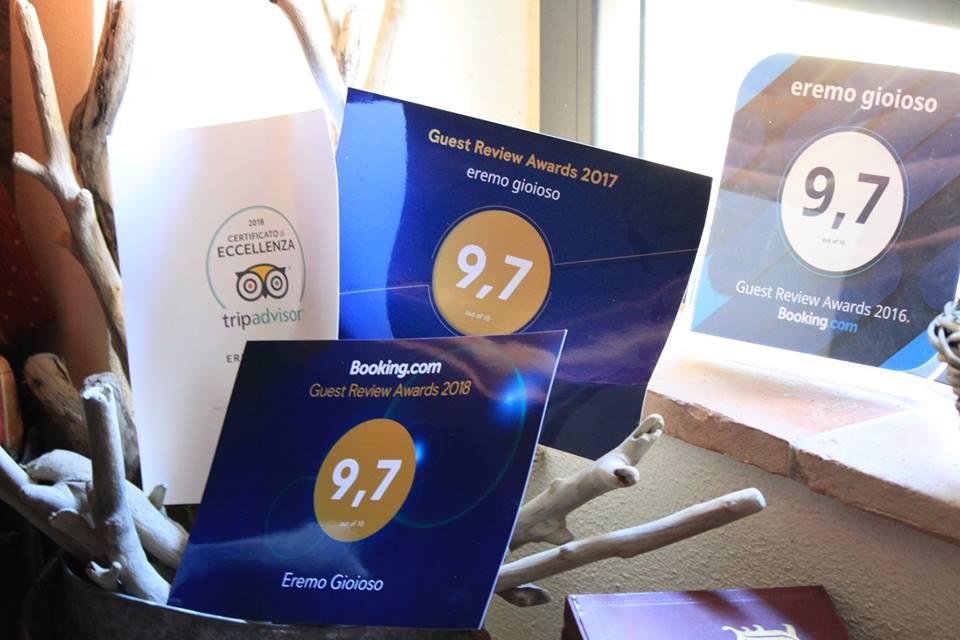 B&B Eremo Gioioso: 9,7 il punteggio attribuitogli dagli ospiti, attraverso Booking